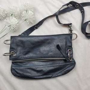 The Sak Women's Handbag Purse Glazed Black Leather